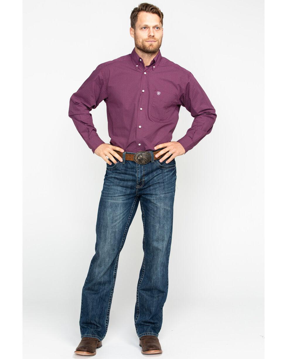 Ariat Men's Dalazar Print Long Sleeve Western Shirt - Big & Tall , Purple, hi-res