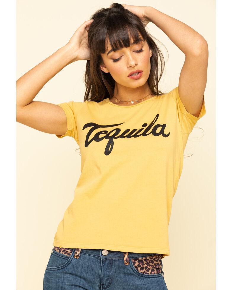 Bandit Brand Women's Mustard Tequila Graphic Short Sleeve Tee , Dark Yellow, hi-res