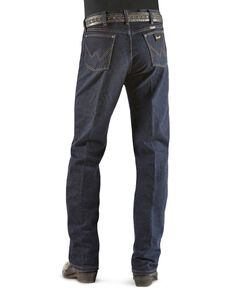 Wrangler Original Fit Men's Silver Edition Jeans, Dark Denim, hi-res