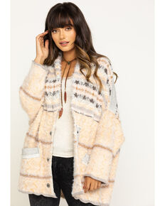 Free People Women's Fair Weather Cardigan, Tan, hi-res