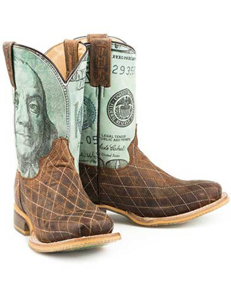 Tin Haul Youth Boys' Money Western Boots - Square Toe, , hi-res