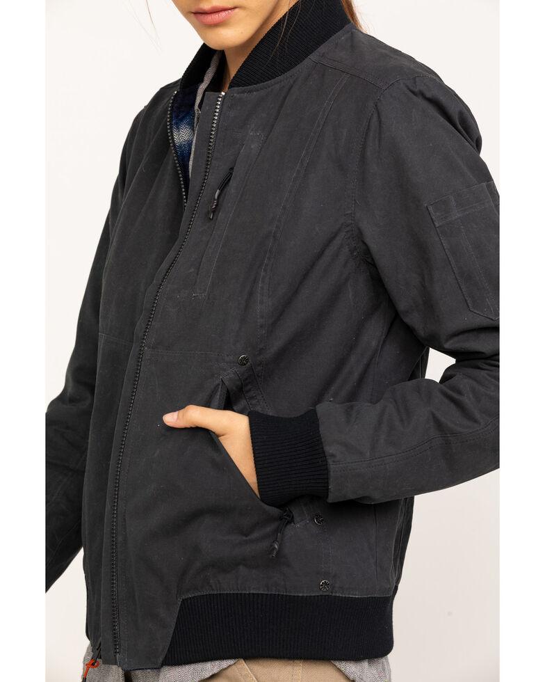 Dovetail Workwear Women's Evaleen Waxed Canvas Trucker Jacket , Dark Grey, hi-res