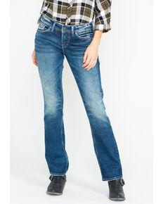 Silver Women's Suki Stretch Boot Jeans , Medium Blue, hi-res