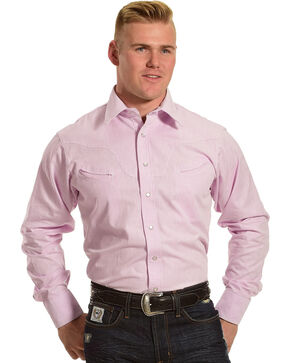Schaefer Outfitter Men's Purple Vintage Chisholm Chambray Shirt, Light Purple, hi-res