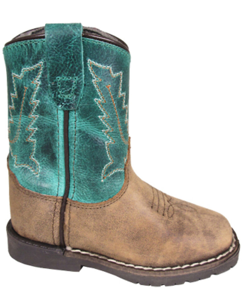 Smoky Mountain Toddler Girls' Autry Western Boots - Square Toe, Brown, hi-res