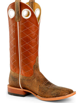 Horse Power Men's Copper Cow Western Boots - Square Toe, Toast, hi-res