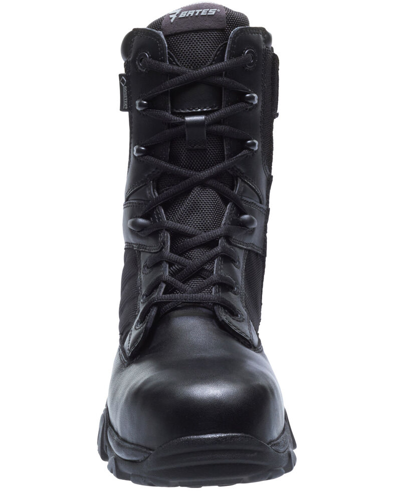 Bates Men's GX-8 Waterproof Work Boots - Composite Toe, Black, hi-res