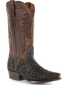 El Dorado Men's Caiman Snip Toe Western Boots, Chocolate, hi-res