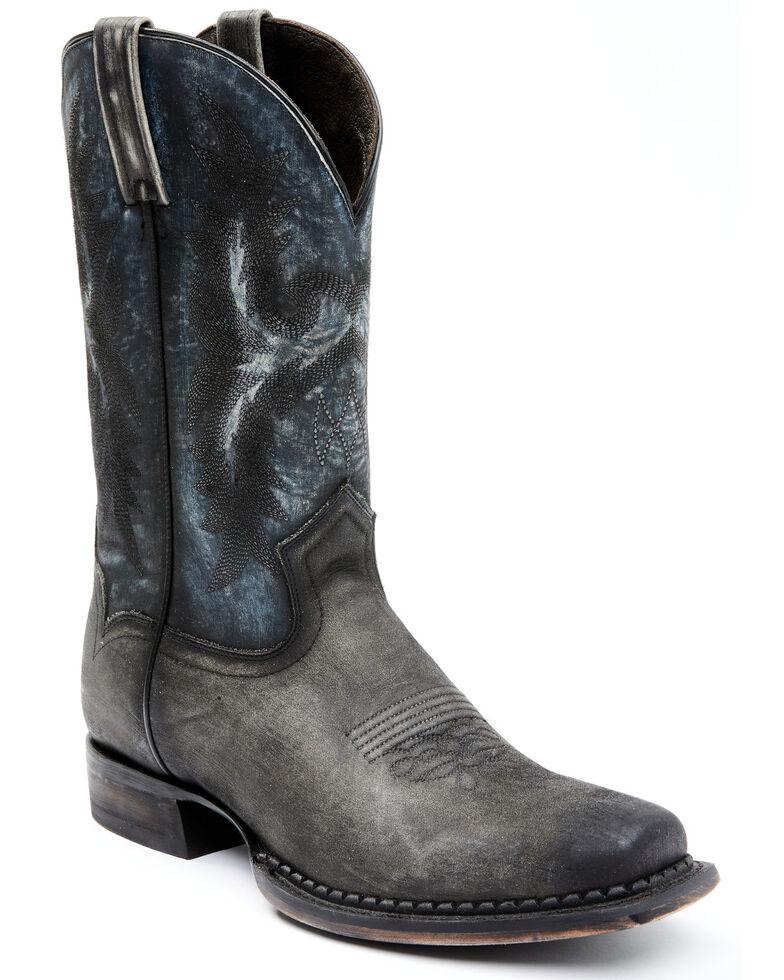 Moonshine Spirit Men's Black Fish Western Boots - Square Toe, Black, hi-res