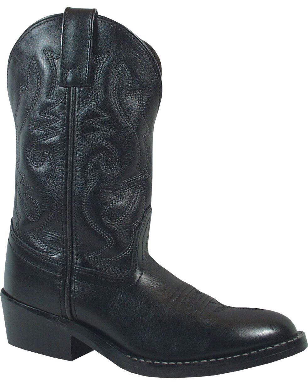 Smoky Mountain Boys' Denver Western Boots - Round Toe, Black, hi-res