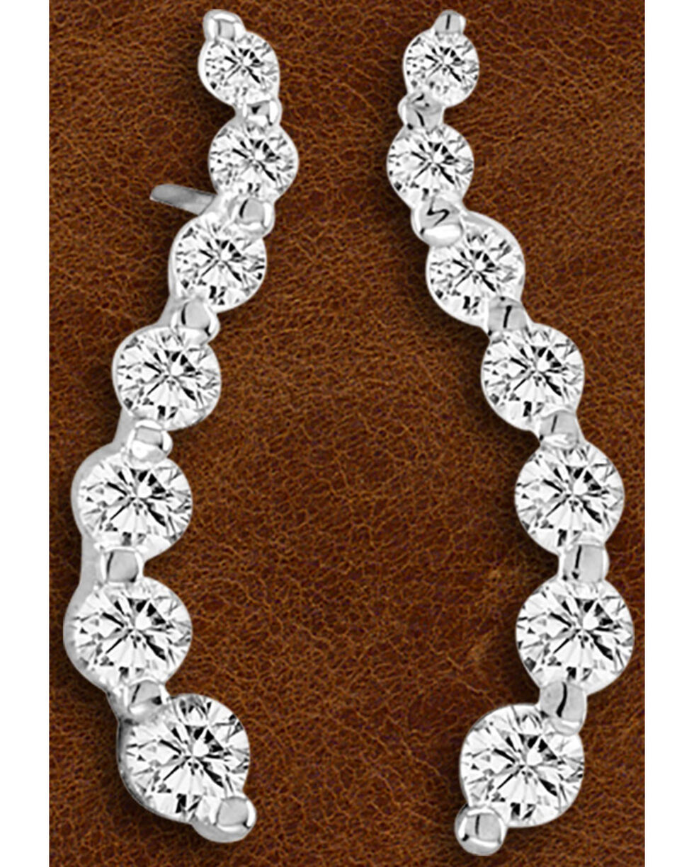 Kelly Herd Sterling Silver Journey Earrings , Silver, hi-res