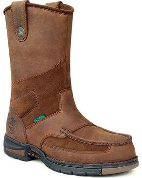 Georgia Boot Men's Athens Wellington Work Boots, Brown, hi-res