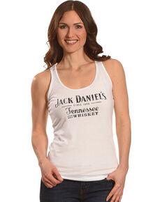 Jack Daniel's Women's Classic Logo Tank Top , White, hi-res