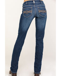 Ariat Women's R.E.A.L. Juliette Lita Mid-Rise Straight Jeans , Blue, hi-res