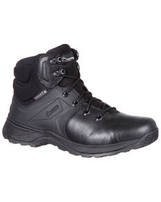 Rocky Men's Alpha Tac Waterproof Duty Boots - Round Toe, Black, hi-res