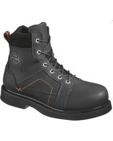 Harley-Davidson Men's Pete Steel Toe Lace Up Motorcycle Boots, Black, hi-res