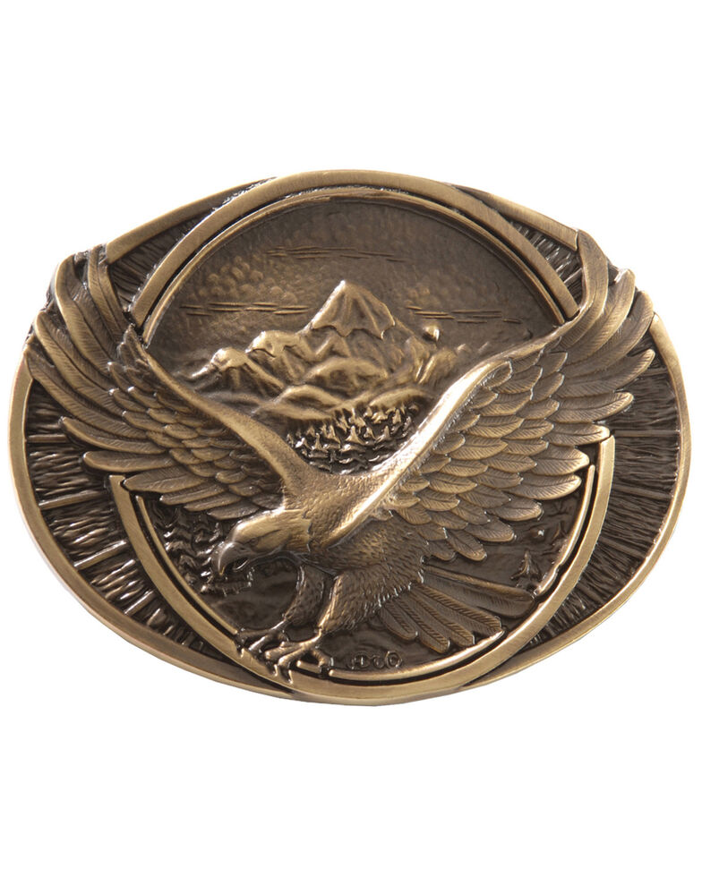 Montana Silversmiths Soaring Eagle Buckle, Brass, hi-res