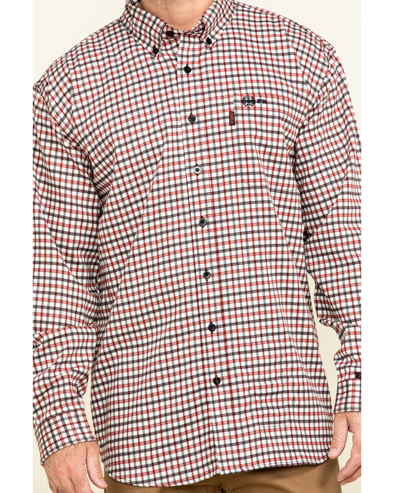 Cinch Men's FR Multi Plaid Long Sleeve Work Shirt - Big , Multi, hi-res