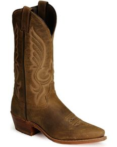 "Abilene Men's 12"" Longhorn Western Boots, Distressed, hi-res"