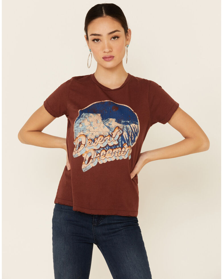 Bandit Women's Rust Desert Dreamin Graphic Short Sleeve Tee , Rust Copper, hi-res