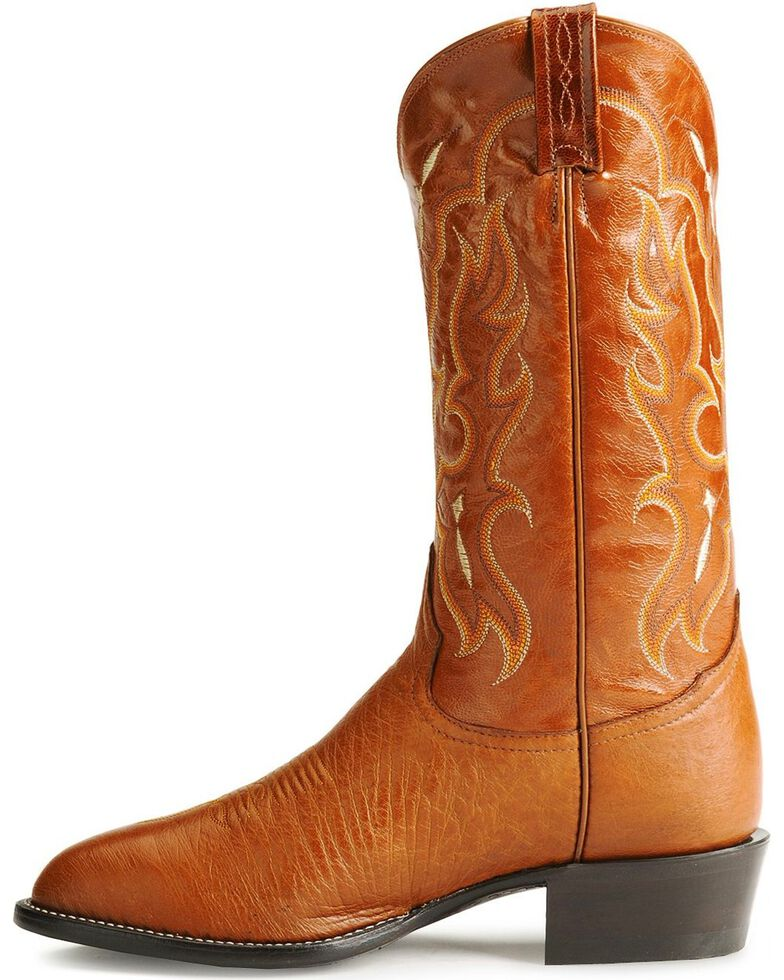 Tony Lama Men's Smooth Ostrich Exotic Western Boots, Peanut Brittle, hi-res