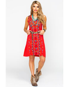 09503f17939 Johnny Was Women s Ornella Yoke Tank Tunic Dress