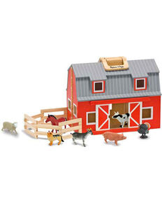 Melissa & Doug Kids' Wooden Fold & Go Barn Set, No Color, hi-res