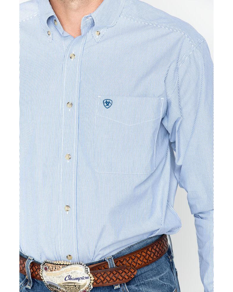 Ariat Men's Dayne Mini Striped Long Sleeve Shirt - Big & Tall , Blue, hi-res