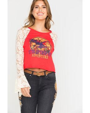"Shyanne Women's ""Spirit of Adventure"" Lace Long Sleeve Shirt, Rust Copper, hi-res"
