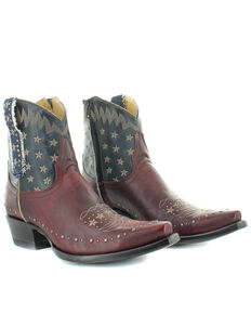 Old Gringo Women's Unity Fashion Booties - Snip Toe, Blue/red, hi-res