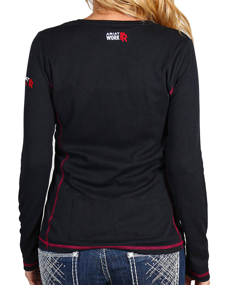 Ariat Women's Flame Resistant Polartec Powerdry Work Shirt, Black, hi-res