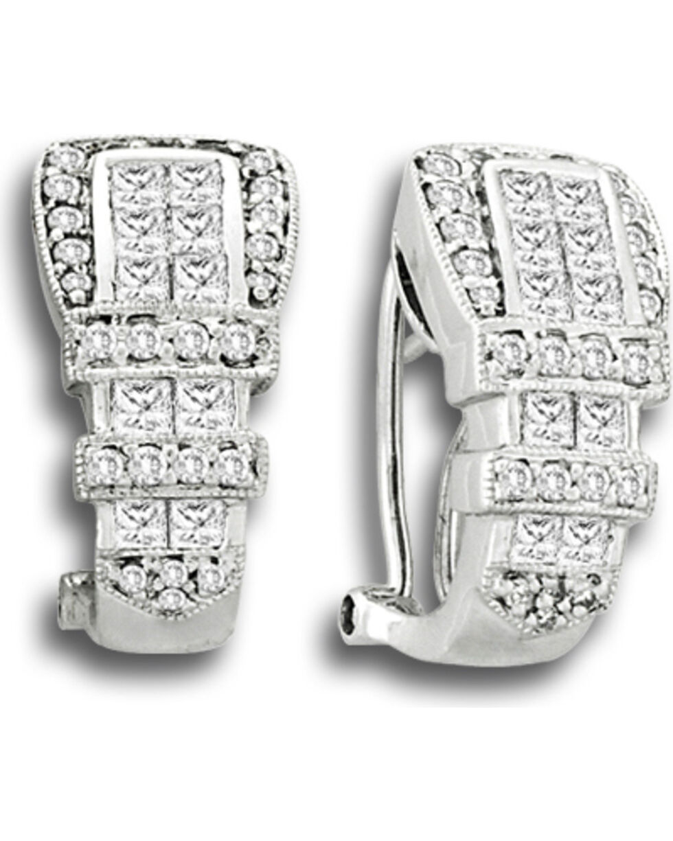Kelly Herd Women's Ranger Style Buckle Earrings, Silver, hi-res