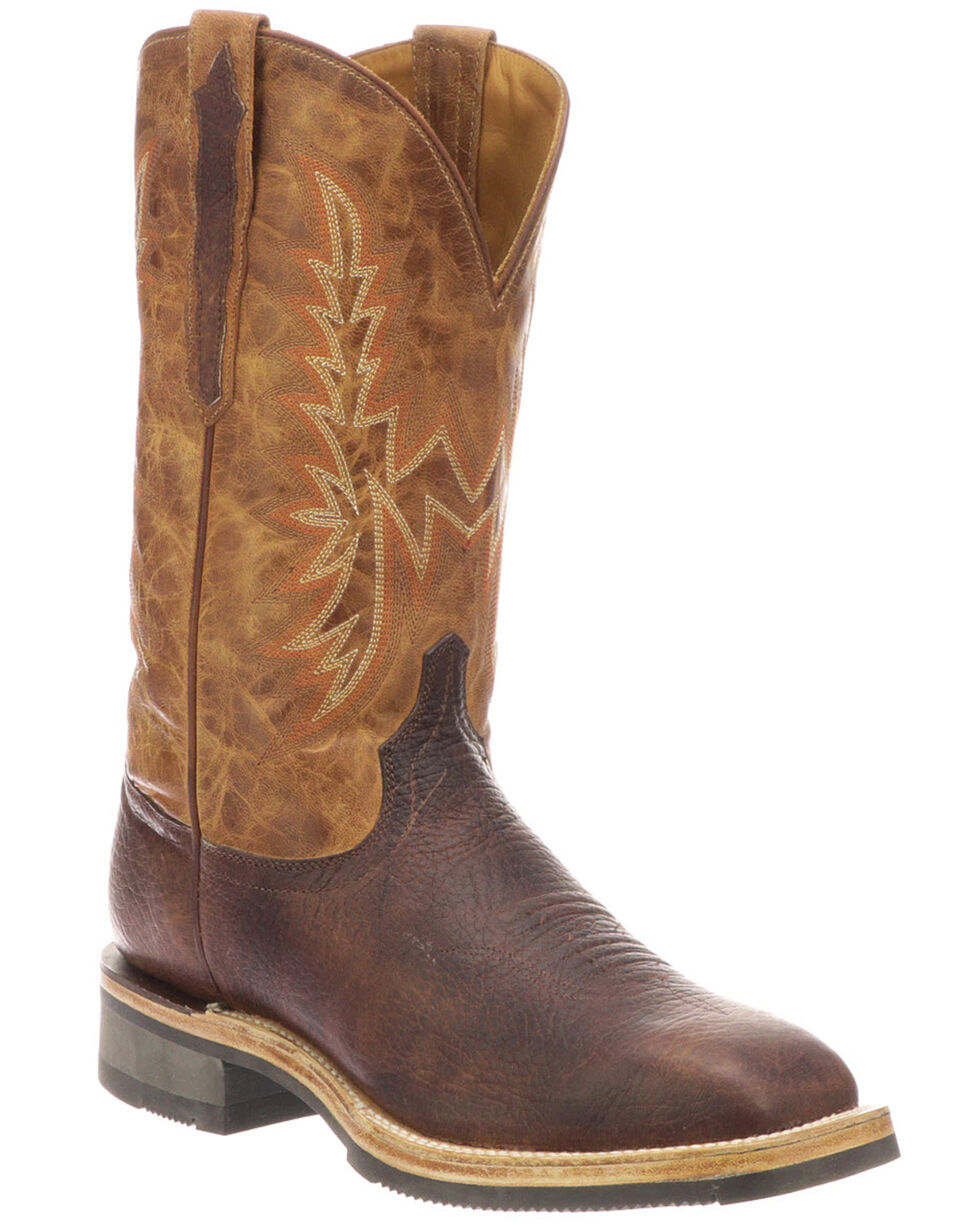 Lucchese Men's Rudy Western Boots - Square Toe, Chocolate, hi-res