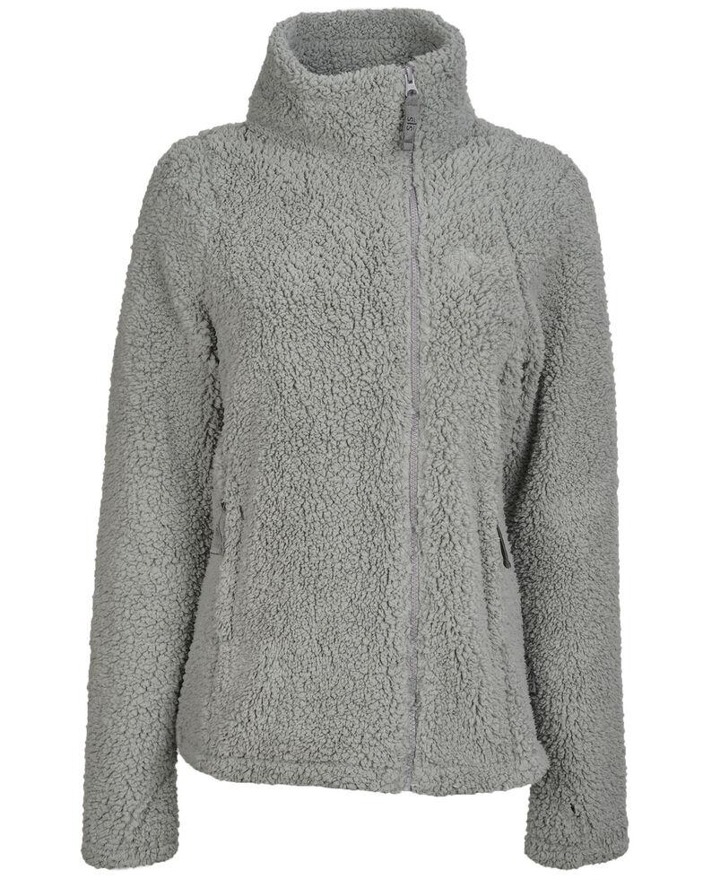 STS Ranchwear Women's Fireside Sherpa Jacket, Grey, hi-res