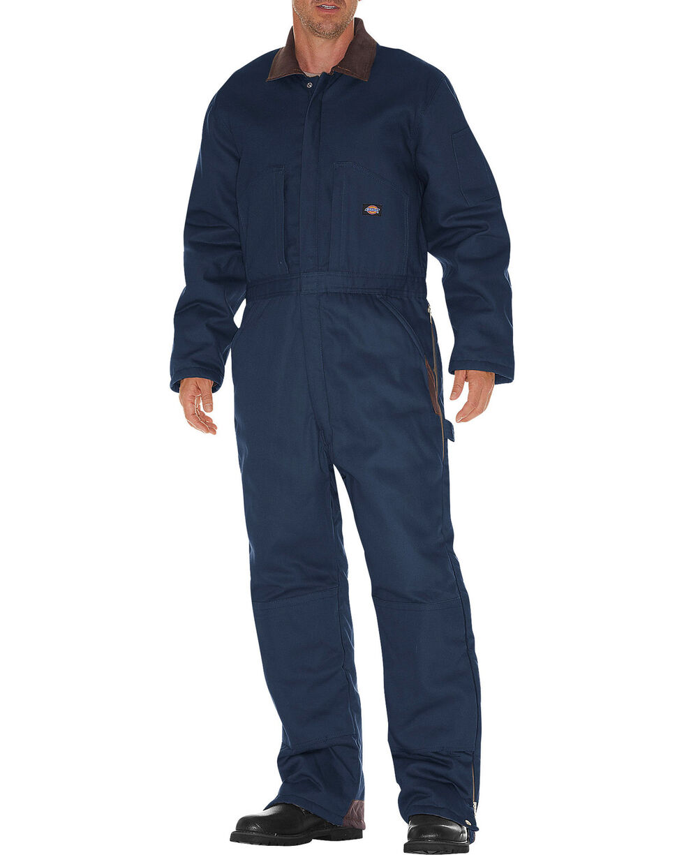 Dickies Men's Duck Insulated Coveralls - Big and Tall, Navy, hi-res