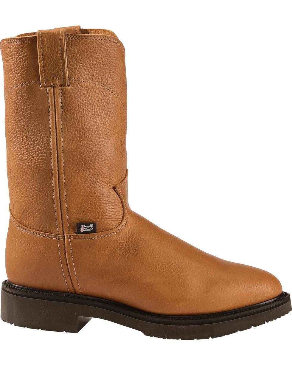 Justin Men's Boots Pull-On Boots, Copper, hi-res