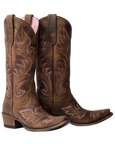 Junk Gypsy by Lane Women's Wildheart Western Boots - Snip Toe, Brown, hi-res