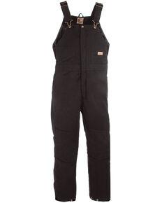 Berne Women's Washed Insulated Bib Overalls - Regular, Black, hi-res