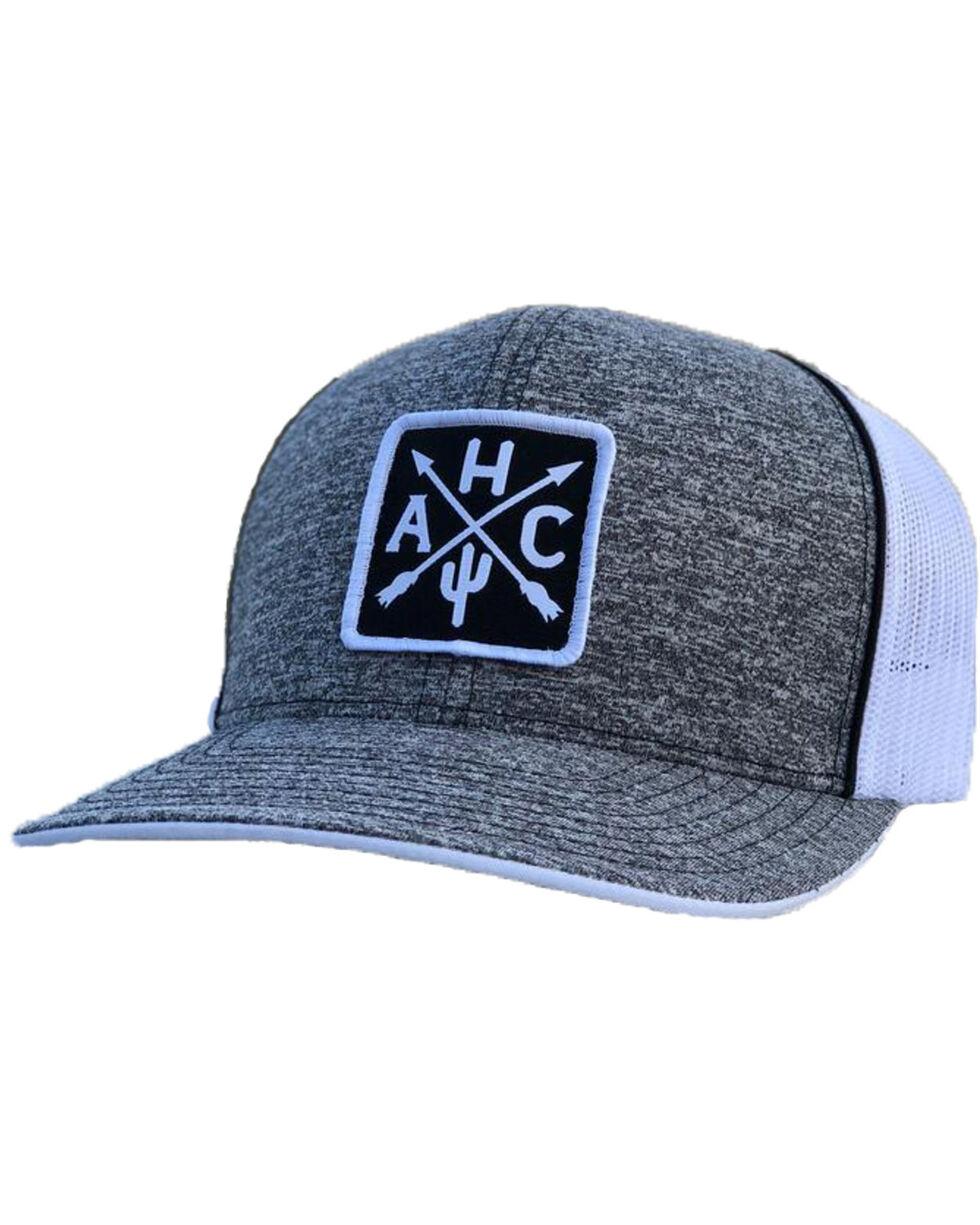 Armadillo Hat Co. Men's AHC Patch Baseball Cap, Heather Grey, hi-res