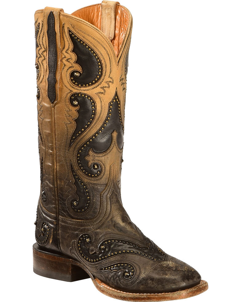 Lucchese Handmade Pearl Ombre Rita Cowgirl Boots - Square Toe , Light Brown, hi-res