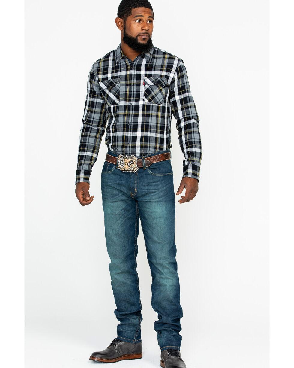 Levi's 502 Men's Rosefinch Regular Taper Fit Stretch Jeans, Blue, hi-res