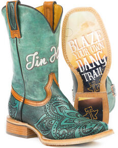 376c0b7ab553 Tin Haul Women s Paisley Too Blazing Trail Cowgirl Boots - Square Toe