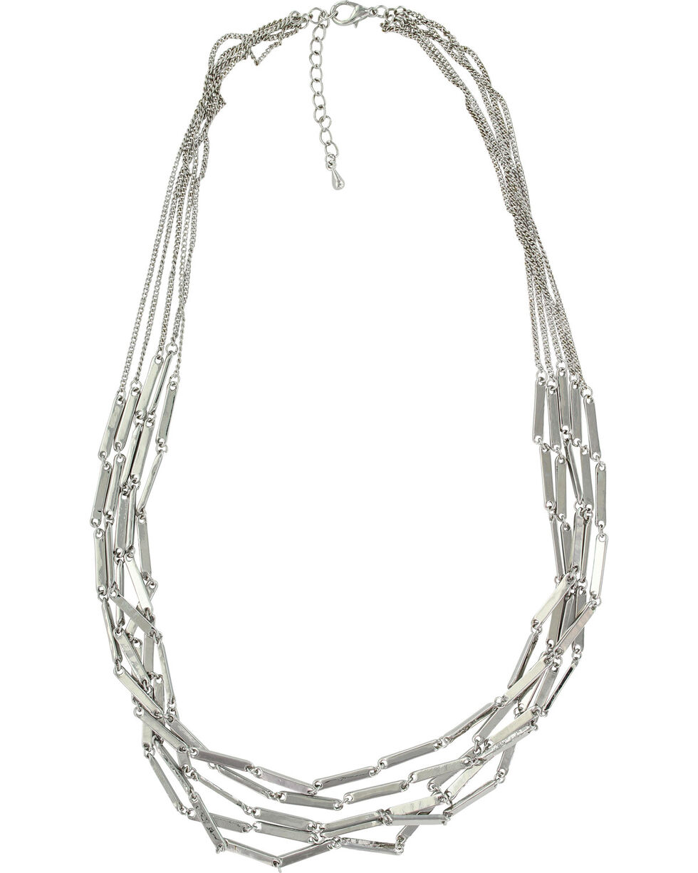 Montana Silversmiths Women's Silver Six Bar Strand Necklace , Silver, hi-res