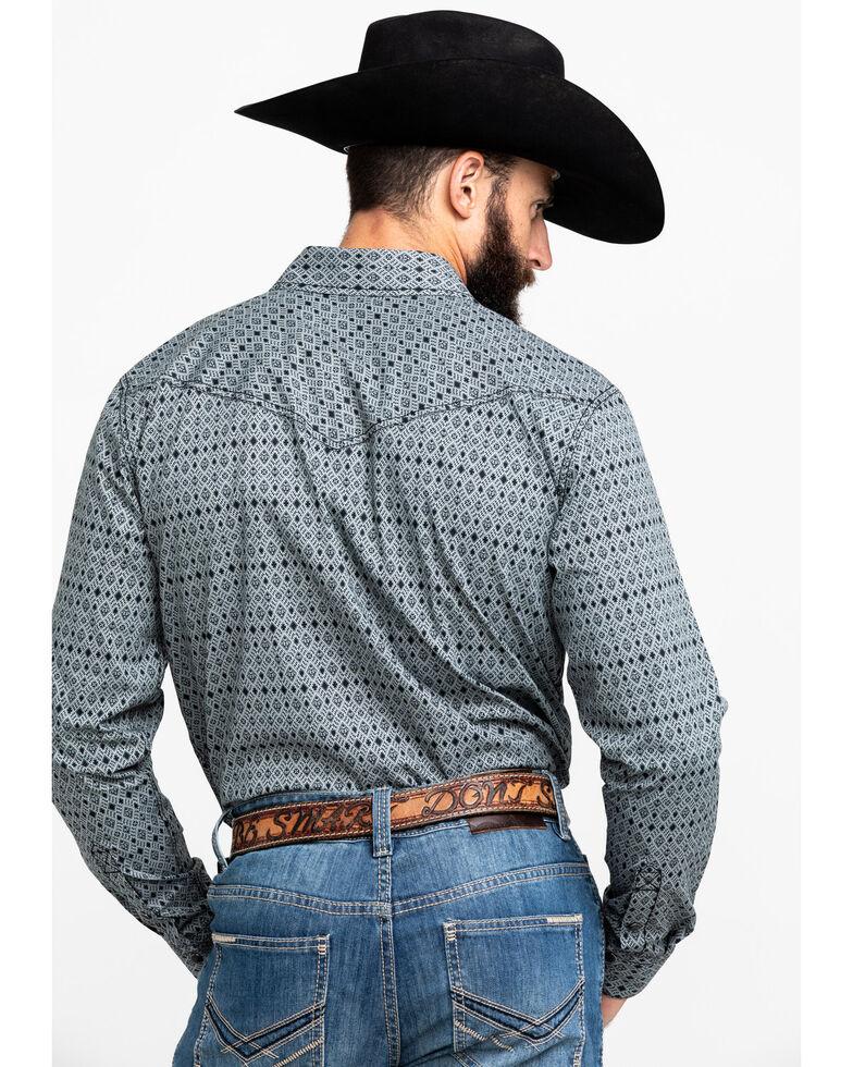 Cody James Men's Black Zantana Aztec Print Long Sleeve Western Shirt , Black/white, hi-res