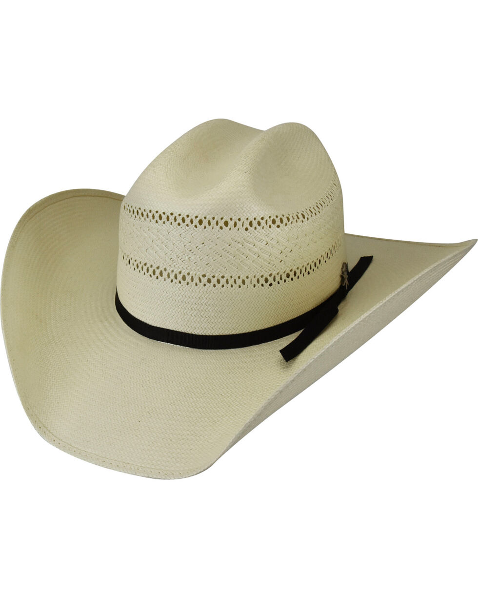 Bailey Men's Macon 20X Cattleman Straw Hat, Natural, hi-res