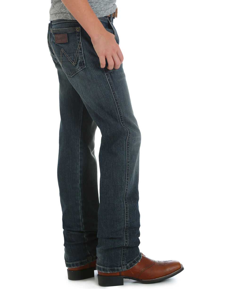 Wrangler Boys' (4-7) RETRO Slim Fit Jeans - Straight Leg , Indigo, hi-res