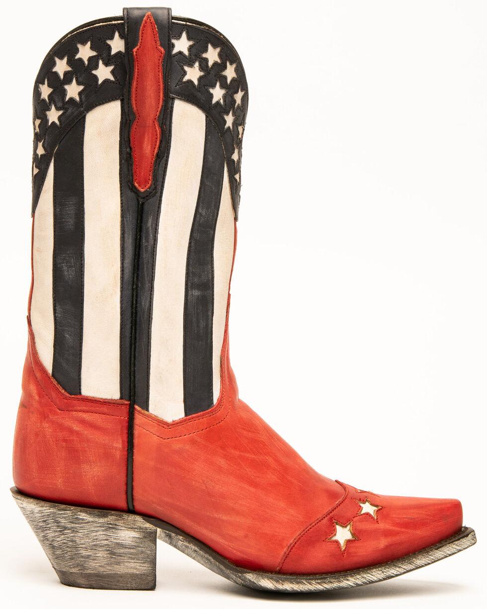 Dan Post Women's Stars & Stripes Fashion Western Boots - Snip Toe, Red, hi-res