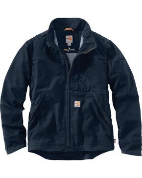 Carhartt Men's Flame-Resistant Full Swing Quick Duck Jacket , Navy, hi-res