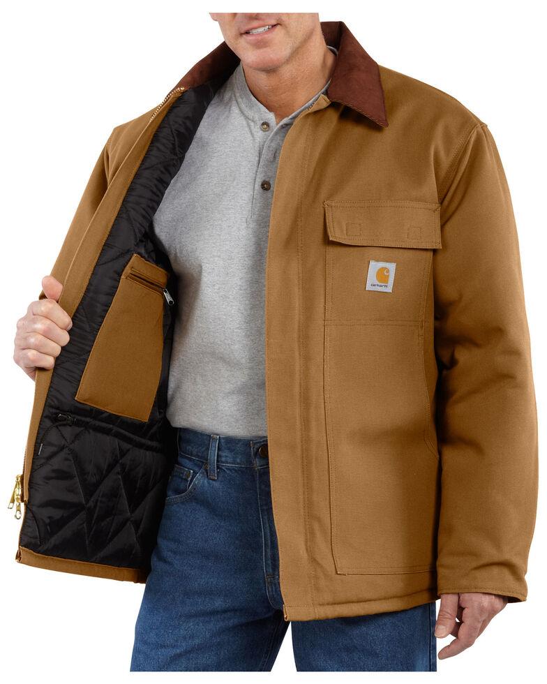 Carhartt Men's Duck Traditional Arctic Quilt Lined Coat, Carhartt Brown, hi-res