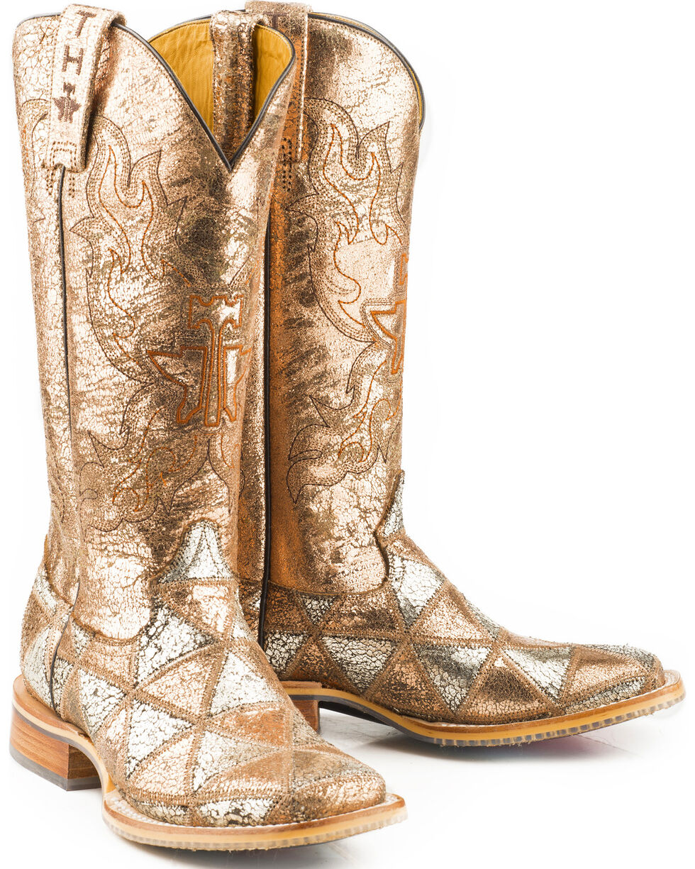 Tin Haul Women's Mish & Mash Geometric Steed Cowgirl Boots - Square Toe, Multi, hi-res